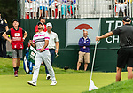 CROMWELL, CT. 21 June 2019-062119 - PGA Tour player Jason Day reacts after missing his birdie putt on the par 4 ninth hole, his 18th for the day, during the second round of the Travelers Championship at the TPC River Highlands in Cromwell on Thursday. Bill Shettle Republican-American