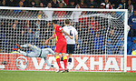 Gareth Bale scores the winner for Wales past Allan McGregor