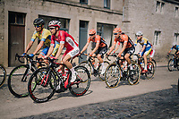 Michael van Staeyen (BEL/Cofidis) over the town's pav&eacute;d main road<br /> <br /> 59th Grand Prix de Wallonie 2018 <br /> 1 Day Race from Blegny to Citadelle de Namur (BEL / 206km)