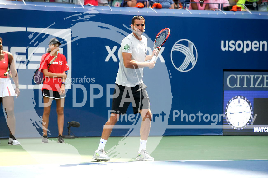 Marin Cilic attending Arthur Ashe Kids Day 2015 at the US Open at USTA Billie Jean King National Tennis Center on August 29, 2015 in New York City