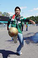 Mexikanischer Fan zeigt seine Künste am Ball - 17.06.2018: Deutschland vs. Mexico, Luzhniki Stadium Moskau