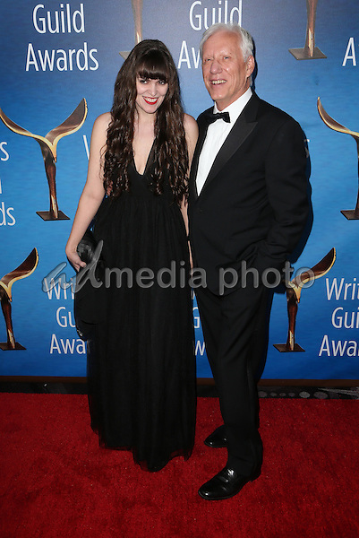 19 February 2017 - Beverly Hills, California - Sara Miler, James Woods. 2017 Writers Guild Awards L.A. Ceremony held at the Beverly Hilton. Photo Credit: AdMedia