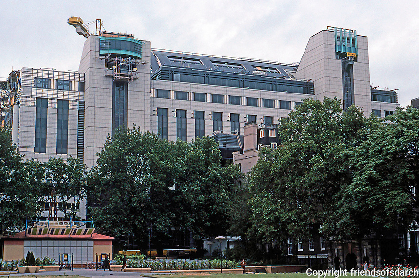 London: Embankment Place, side elevation. Summer 1990. Terry Farrell