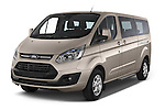 2013 Ford TOURNEO CUSTOM TITANIUM 5 Door Combi Angular Front stock photos of front three quarter view