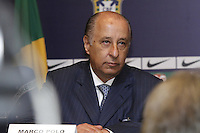 Presidente da Federacao Paulista de Futebol Marco Polo Del Nero na manhã desta quinta-feira (29) no Hotel Windsor Barra, na Barra da Tijuca, zona oeste do Rio de Janeiro (RJ). (FOTO; ROBERTO FILHO / BRAZIL PHOTO PRESS).