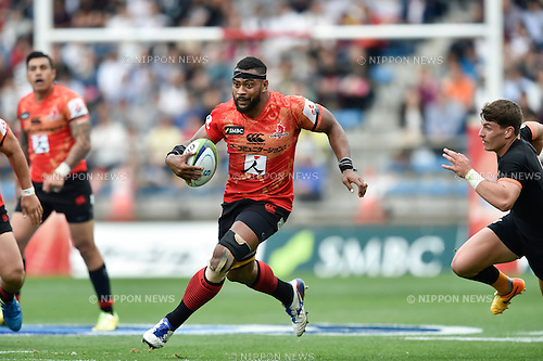 Faatiga Lemalu (Sunwolves), April 23, 2016 - Rugby : Super Rugby match between Sunwolves 38-26 Jaguares at Prince Chichibu Memorial Stadium in Tokyo, Japan. (Photo by Yuka Shiga/AFLO)