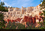 Bryce Canyon Hoodoos and Canyon Wall, Navajo Trail, Bryce Canyon National Park, Utah
