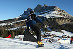 14/12/2013, Carezza - FIS Snowboard World Cup <br /> Sebastien Beaulieu competes during the Parallel Slalom event of the FIS Snowboard World Cup  on 14/12/2013 in Carezza, Italy.<br /> <br /> &copy; Pierre Teyssot<br /> <br /> Sebastien Beaulieu competes during the Parallel Slalom event of the FIS Snowboard World Cup  on 14/12/2013 in Carezza, Italy.
