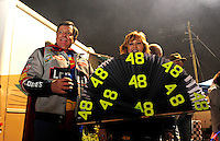 Oct. 31, 2009; Talladega, AL, USA; NASCAR Sprint Cup Series fans wear Jimmie Johnson apparel as they celebrate Halloween in the infield of the Talladega Superspeedway. Mandatory Credit: Mark J. Rebilas-