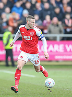 Fleetwood Town's Paul Coutts<br /> <br /> Photographer Lee Parker/CameraSport<br /> <br /> The EFL Sky Bet League One - Fleetwood Town v Blackpool - Saturday 7th March 2020 - Highbury Stadium - Fleetwood<br /> <br /> World Copyright © 2020 CameraSport. All rights reserved. 43 Linden Ave. Countesthorpe. Leicester. England. LE8 5PG - Tel: +44 (0) 116 277 4147 - admin@camerasport.com - www.camerasport.com