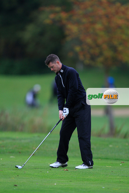 Peter McCarroll (Allen Park Golf Centre) on the 15th tee during Round 4 of The Cassidy Golf 103rd Irish PGA Championship in Roganstown Golf Club on Sunday 13th October 2013.<br /> Picture:  Thos Caffrey / www.golffile.ie