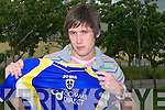 Darren Dennehy with the Jersey of his new club Cardiff United.....   Copyright Kerry's Eye 2008
