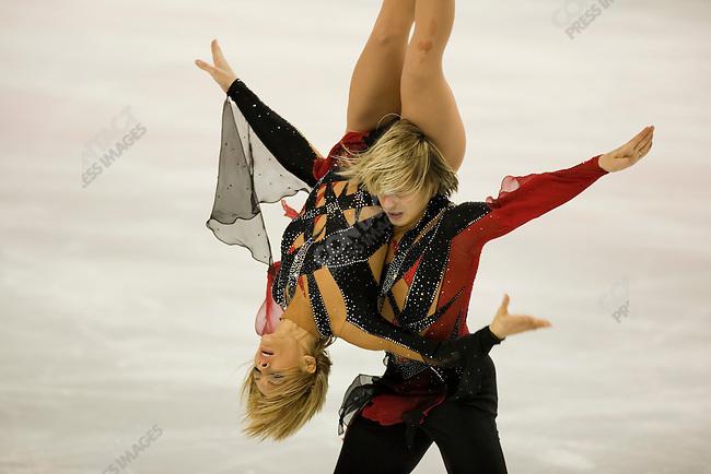 Ice dancing-free dance at the Palavela venue in Torino during the winter Olympics. Albena Denkova and Maxim Staviski of BUL.