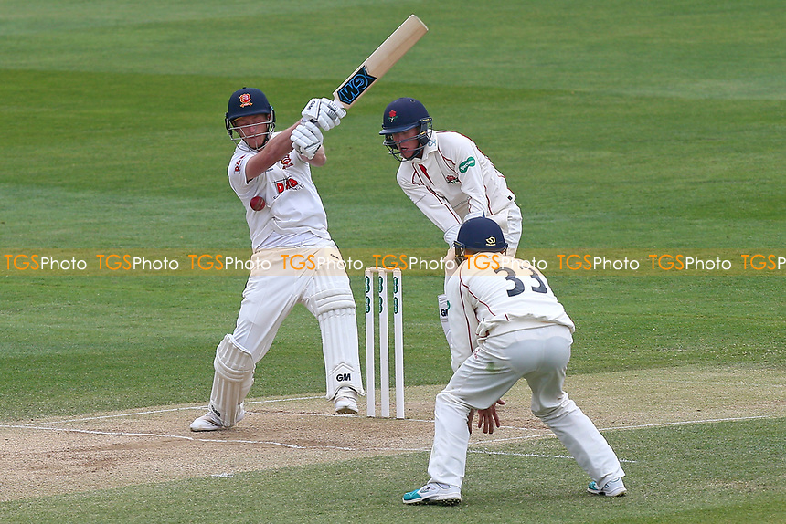Tom Westley of Essex is struck by the ball during Essex CCC vs Lancashire CCC, Specsavers County Championship Division 1 Cricket at The Cloudfm County Ground on 10th April 2017