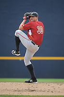 Altoona Curve pitcher David Bromberg (39) during game against the Trenton Thunder at ARM & HAMMER Park on July 24, 2013 in Trenton, NJ.  Altoona defeated Trenton 4-2.  Tomasso DeRosa/Four Seam Images