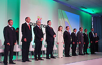 SAO PAULO, SP, 16 DE JANEIRO DE 2012 - COUROMODA - Autoridades durante abertura da Feira Couromoda, no pavilhao de Exposicao do Anhembi zona norte da cidade, nesta manha de segunda-feira (16). FOTO: RICARDO LOU - NEWS FREE.