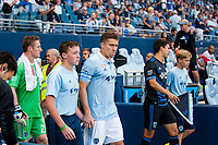 Kansas City, KS - Wednesday August 9, 2017: Matt Besler during a Lamar Hunt U.S. Open Cup Semifinal match between Sporting Kansas City and the San Jose Earthquakes at Children's Mercy Park.
