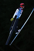 12th January 2018, Val di Fiemme, Fiemme Valley, Italy; FIS Nordic Combined World Cup, Mens Gundersen; Francois Braud (FRA)