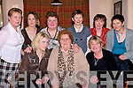 HAPPY: Celebrating Womens Christymas in Kate Browne's Ardfert on Tuesday night. Front l-r: Breda Griffin, Bridie Houlihan and Nancy Hurley (Ardfert). Back l-r: Mary Griffin, Deirdre and Trina Houlihan, (Ardfert), Peggy Hannifin(Tralee), mary Hobbins(Ballyheigue) and Eileen Maunsell (Ardfert).......