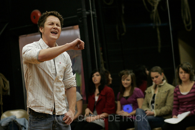 Farmington, UT --1/26/08--sings a song during the open tryouts at Lagoon's historic opera house for Lagoon's summer entertainment season.  Over 100 people in three days auditioned for 22 jobs. .********..Photo by Chris Detrick/The Salt Lake Tribune.frame #_E1M6994.