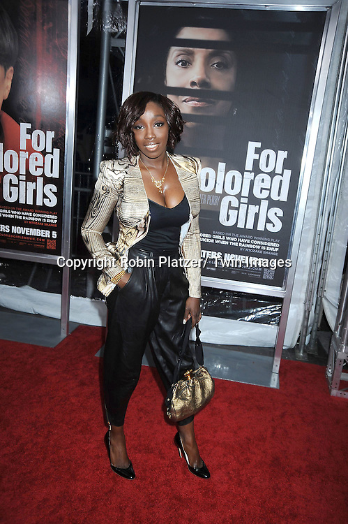 """singer Estelle attending The New York Special Screening.of """"For Colored Girls"""" at The Ziegfeld Theatre on October 25, 2010 in New York City"""