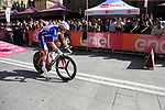 Arnaud Demare (FRA) Groupama-FDJ off the start ramp of Stage 1 of the 2019 Giro d'Italia, an individual time trial running 8km from Bologna to the Sanctuary of San Luca, Bologna, Italy. 11th May 2019.<br /> Picture: Eoin Clarke | Cyclefile<br /> <br /> All photos usage must carry mandatory copyright credit (© Cyclefile | Eoin Clarke)