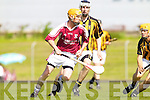 David Doyle Nigel Roche Abbeydorney v John Fitzgerald Causeway Causeway in the Round Two Senior Hurling County Chamionship at Austin Stack Park in Tralee.