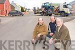 Dan Shine, Raffaele Matassa and Cllr Pat McCarthy who are appealing to Kerry County Council to erect a roundabout at the entrance to Brosna village