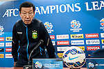 Jeonbuk Hyundai Motors coach Choi Kang-hee arrives to attend press conference ahead of the 2015 AFC Champions League Quarter-Final 1st Leg match between Jeonbuk Hyundai Motors and Gamba Osaka on August 25, 2015 at the Jeonju World Cup Stadium, in Jeonju, Korea Republic. Photo by Xaume Olleros /  Power Sport Images