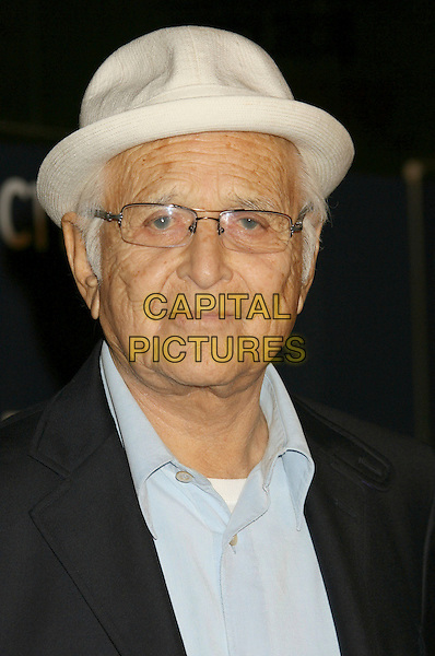 NORMAN LEAR.Declare Yourself's Hollywood Turns 18 Celebration held at the Wallis Annenberg Center, Beverly Hills, California, USA..September 27th, 2007.headshot portrait glasses white fedora hat .CAP/ADM/RE.©Russ Elliot/AdMedia/Capital Pictures. *** Local Caption *** .