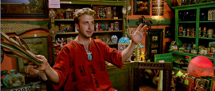 Louisville native Collin Smith as the very strange shopkeeper in the festure film, Lies I Told My Little Sister, an official Selection of the Louisville International Festival of Film, Kentucky. Screening  12:25pm October 10, 2014, Daisy Theatre, Galt House. Collin Smith and director William J. Stribling wll attend the screening.