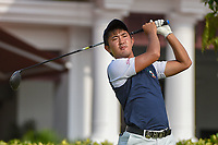Takumi KANAYA (JPN) watches his tee shot on 12 during Rd 2 of the Asia-Pacific Amateur Championship, Sentosa Golf Club, Singapore. 10/5/2018.<br /> Picture: Golffile | Ken Murray<br /> <br /> <br /> All photo usage must carry mandatory copyright credit (© Golffile | Ken Murray)