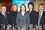 MESSAGE: Attending the 'Pfizer Message from the Heart' meeting in the Meadowlands Hotel, Tralee, on Monday night were l-r: Dr Eamonn Shanahan, Anne Riordan (IHF), Maureen Johnston (Pfizer), Sheila King (dietician) and Dr Richard Liston (KGH).   Copyright Kerry's Eye 2008