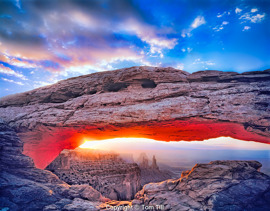 Mesa Arch, Canyonlands National Park, Utah Sunrise view Island in the Sky District