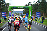 The peloton in action during Stage 4 of the 2018 Artic Race of Norway, running 145.5km from Kvalsund to Alta, Norway. 18th August 2018. <br /> <br /> Picture: ASO/Gautier Demouveaux | Cyclefile<br /> All photos usage must carry mandatory copyright credit (&copy; Cyclefile | ASO/Gautier Demouveaux)