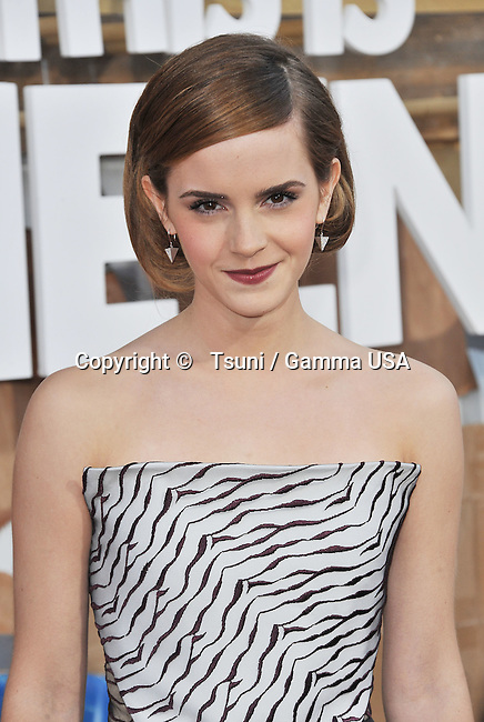 Emma Watson  arriving the This is The End Premiere at the Westwood Village Theatre In Los Angeles.