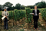 'WINE IN ENGLAND, SOMERSET', PILTON MANOR VINEYARD. STEPHEN BROOKS-BANK THE WINE MAKER GIVES A VINEYARD TALK, 1989