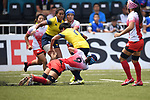Yukari Tateyama (JPN), <br /> AUGUST 31, 2018 - Rugby : Women's Preliminary round Group B match between Japan 26-0 Thailand at Gelora Bung Karno Rugby Field during the 2018 Jakarta Palembang Asian Games in Jakarta, Indonesia. <br /> (Photo by MATSO.K/AFLO SPORT)