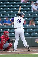 Zack Collins (30) of the Winston-Salem Dash at bat against the Potomac Nationals at BB&T Ballpark on July 15, 2016 in Winston-Salem, North Carolina.  (Brian Westerholt/Four Seam Images)