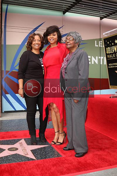 Bernice Henson, Taraji P Henson,  Patsy Ballard<br /> at the Taraji P. Henson Star on the Hollywood Walk of Fame, Hollywood, CA 01-28-19<br /> David Edwards/DailyCeleb.com 818-249-4998