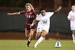 04 October 2012: UNC's Meg Morris (32) and Boston College's Gibby Wagner (10). The University of North Carolina Tar Heels defeated the Boston College Eagles 1-0 at Fetzer Field in Chapel Hill, North Carolina in a 2012 NCAA Division I Women's Soccer game.