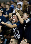 January 21, 2012:   Nevada Wolf Pack fans laugh during the NCAA basketball game against Fresno State played at Lawlor Events Center on Saturday night in Reno, Nevada.