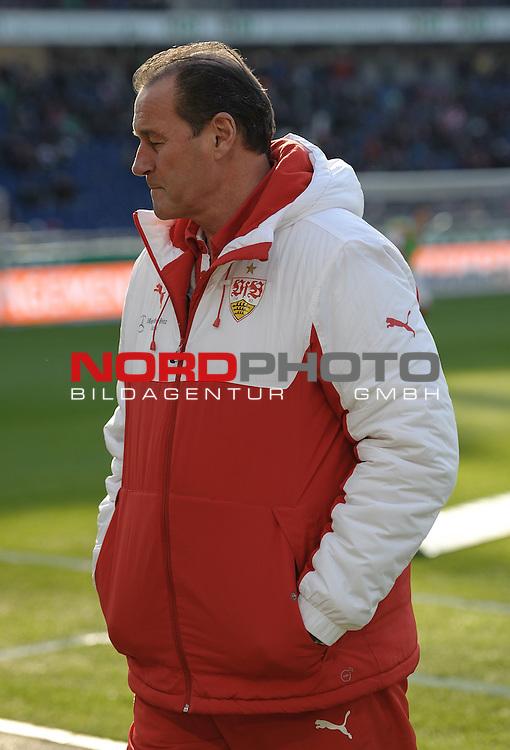28.02.2015, HDI Arena, Hannover, GER, 1.FBL, Hannover 96 vs VfB Stuttgart, im Bild Huub Stevens (Trainer VfB Stuttgart)<br /> <br /> Foto &copy; nordphoto / Frisch