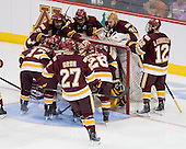 - The University of Minnesota-Duluth Bulldogs defeated the University of Michigan Wolverines 3-2 (OT) to win the 2011 D1 National Championship on Saturday, April 9, 2011, at the Xcel Energy Center in St. Paul, Minnesota.