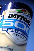 14 February, 2010, Daytona Beach, Florida USA USA.52nd Daytona 500 logo..©F. Peirce Williams 2010 USA.