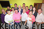 Members of Abbeyfeale Golfing Society pictured last Saturday at their monthly prize giving ceremony in Jack O'Rourkes Bar, Abbeyfeale, pictured l-r: Geoffary Fitzgerald, Jason Lynch, Pat Browne, Karen Hartnett, Ger Foley, Willie Galvin, Tim Kelly, John Geoghegan (sponsor), Kevin Foley, Paddy Fitzgerald, Margaret Moloney, Connor Lane, Jane O'Dwyer, Patsy Prendeville.