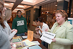 The Help Center is a University wide retention effort lead by Dale Tampke. The Center will be housed in the new Baker....Ginny Helm(green shirt),Selam Gerzher-Alemayo(dark hair,white shirt), Samantha Weaver(off white lacrosse shirt), Danielle Brockett(grey west point shirt)),Andrew Vernon(Glasses)