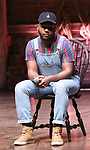"""Deon'te Goodman during the Q & A before The Rockefeller Foundation and The Gilder Lehrman Institute of American History sponsored High School student #EduHam matinee performance of """"Hamilton"""" at the Richard Rodgers Theatre on 4/03/2019 in New York City."""