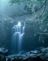 Doyle River Falls in the fog; Shenandoah National Park, VA