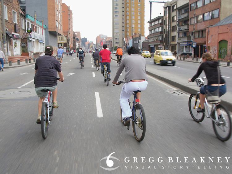 Ciclovia Bicycle Street Fair - Bogota -Colombia